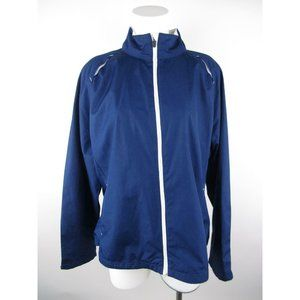 Danskin Now Polyester Mesh Trim Track Jacket